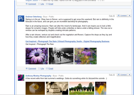google buzz posts