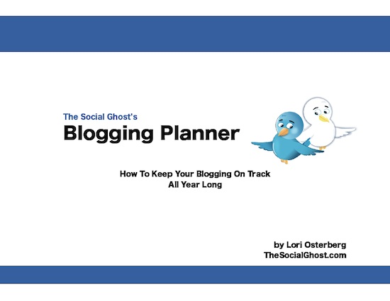 The Social Ghost Blogging Planner