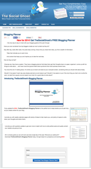 Creating an effective newsletter sign up page 2