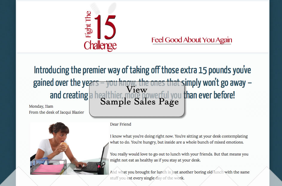 Sales Page Sample